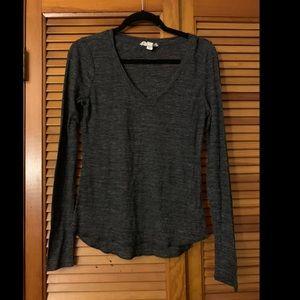 Forever 21 Dark Grey Long Sleeve Shirt Size Large
